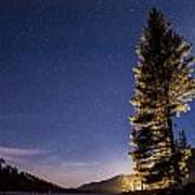 Moon Light Over Tenaya Lake Art Print