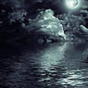Moon Mysterious Art Print