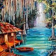 Moon On The Bayou Art Print