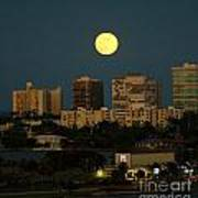 Moon Over Bal Harbour Art Print