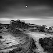 Moon Over Broken Hill Art Print