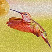 Moon Over Hummingbird Art Print