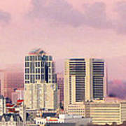 Moon Over Nashville Print by Amy Tyler