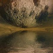 Moon Over Ocean Art Print by Ayse Deniz