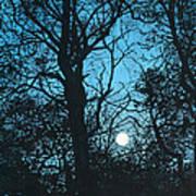 Moon Over Pittsburgh Art Print