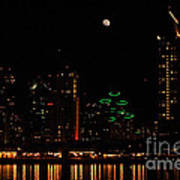 Moon Over San Diego Art Print