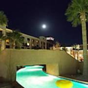 Moon Over The Casino Art Print