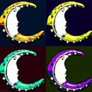 Moon Phase In Pf Quad Colors Art Print