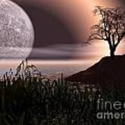 Moon Rise On Another World Art Print