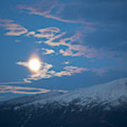 Moon Rise Over The Presidential Range Art Print