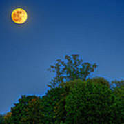 Moon Rising At The Lake House 05/24/13 Oakland County Mi Art Print