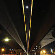 Moon Visible Between The Flyover Gap Art Print