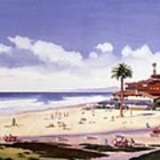 Moonlight Beach Encinitas Art Print