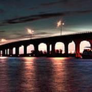 Moonlight Bridge Art Print
