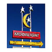 Moonlight Drive In Art Print
