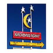 Moonlight Drive In Art Print by Gail Lawnicki