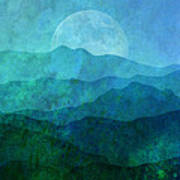 Moonlight Hills Art Print