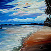 Moonlight In Tobago Art Print