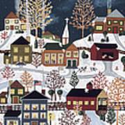 Moonlight In Vermont Art Print