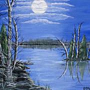 Moonlight Mist Art Print