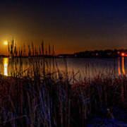 Moonlight On The Lake Art Print