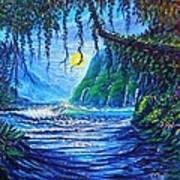 Moonlight Path To Paradise Art Print
