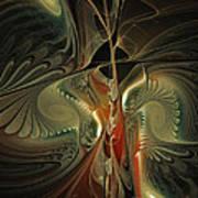 Moonlight Serenade Fractal Art Art Print