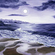 Moonlight Sonata Over Carmel Art Print
