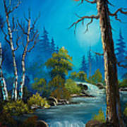 Moonlight Stream Print by C Steele