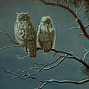 Moonlight Watchers Art Print by Paul Krapf