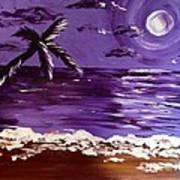 Moonlit Beach Art Print