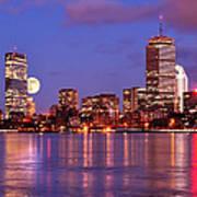 Moonlit Boston On The Charles Art Print