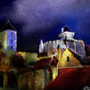 Moonlit Fort Art Print