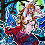 Moonlit Mermaid Art Print