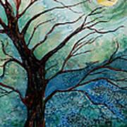 Moonrise In The Wild Night Art Print