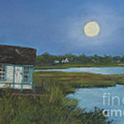 Moonrise Orient Point Art Print