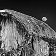 Moonrise Over Half Dome Art Print