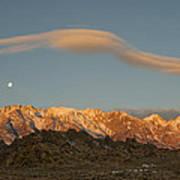 Moonset Over Mt Whitney Img 0637 Art Print