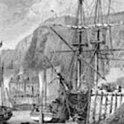 Moored Ships At Fort Regent,  St Art Print
