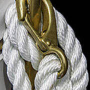 Mooring Rope-nantucket Massachusetts Series 02 Art Print