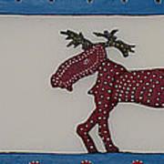Moose Coming Home For Christmas Art Print