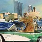 Moose Rapids Or Moose City Drive Art Print