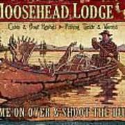 Moosehead Lodge Art Print by JQ Licensing