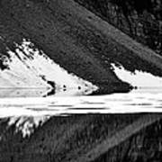 Moraine Lake Abstract - Black And White #2 Art Print