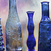 More Cobalt Blue Bottles Art Print