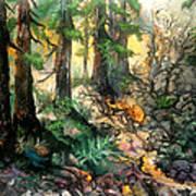 Moring Hike Art Print