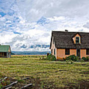 Mormon Row Historic District In Grand Tetons National Park-wyoming Art Print