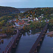 Morning At Harpers Ferry Art Print
