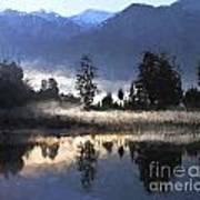 Morning At Lake Matheson Art Print