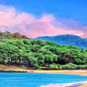 Morning At Papohaku Beach  Art Print